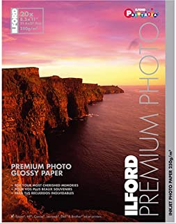 Ilford Premium Glossy 8 1/2 x 11 Inch Photo Paper 20 Sheets
