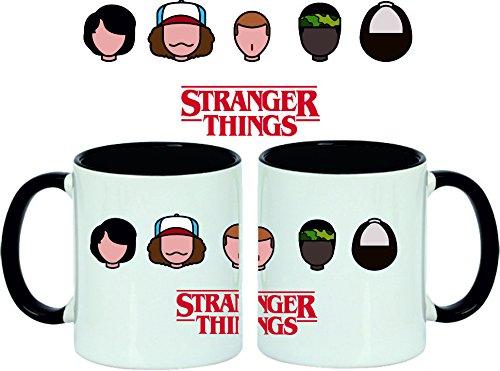 Taza Stranger Things Faces Black
