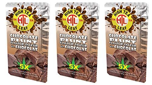High Tea Leaf Hemp Wraps – Chocolate – 3 Packs – 15 Wrap Total