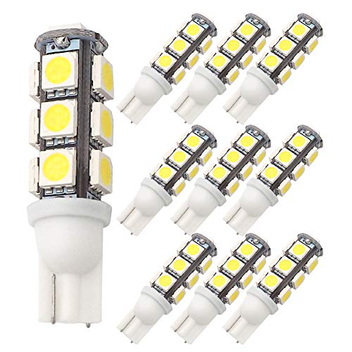 GRV T10 921 194 13-5050 SMD Wedge LED Bulb lamp Super Bright Cool White DC 12V Pack of 10