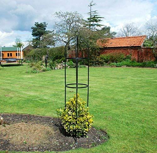 Metallrankgitter in Obeliskform, für Kletterpflanzen, 1,9m, Stahlrahmen, rund, aus wetterfestem Metall