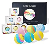 Bath Bombs Bubble Bath, Handmade Bath Products,Rich in Essential Oil, Shea Butter, Fizzy Spa to Moisturize Dry Skin, Relaxing Gifts for Women (6 PCS)