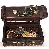 IMPACTO COLECCIONABLES Pièces de Monnaie de Collection - 25 pièces Frappées en Fleur de Coin de 25 Pays + Coffre comme Cadeau