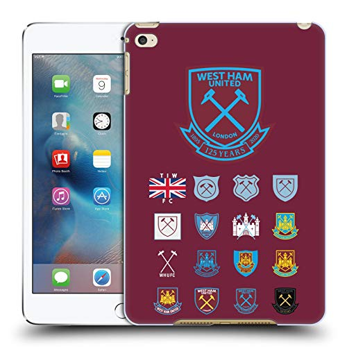 Head Case Designs Officially Licensed West Ham United FC Pattern 2 Crest History Hard Back Case Compatible with Apple iPad Mini 4