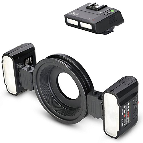 Meike MK-MT24 Macro Twin Lite - Flash anular para cámaras Canon