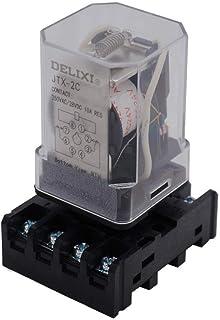 AiCheaX/JTX-2C, MK2P-I DPDT Power Relay with Plug-in Terminal Socket Base, AC 24V Coil, 8 Pin 2NO 2NC (Quality Assurance f...