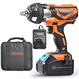 VonHaus 20V MAX Cordless 1/2' Impact Wrench Set High Torque with Variable Speed - Includes 3Ah Lithium-ion Battery, Smart Charger, Belt Hook and Tool Bag