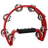 A-Star TAM02RD Tambourin Half Moon pour Enfant Rouge
