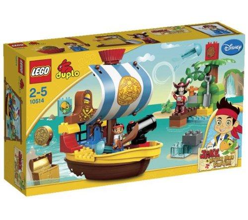 LEGO Duplo - Il vascello pirata di Jake - 10514 + Duplo - Il nascondiglio dell'Isola che non c'è - 10513