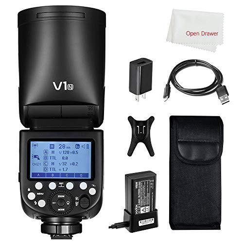 Godox V1 Flash V1-N Round Head Flash TTL On-Camera Round Flash Speedlight for Nikon Camera