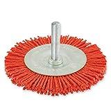 IVY Classic 39204 3-Inch x 1/4-Inch Hex Power Shank, Nylon Abrasive Wheel Brush - Coarse 80 Grit, 1/Card