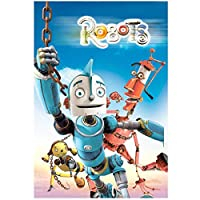 Weitaianrobots(2005)Robot Adventure Funny Anime Movie Poster Canvas Print Painting Wall Art For Living Room Bedroom Decoration-50X70Cm No Frame