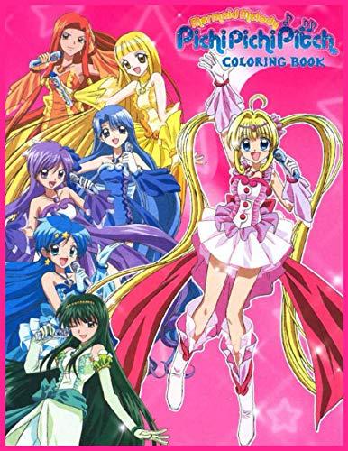 Mermaid Melody Pichi Pichi Pitch Coloring Book: Principesse sirene (Libro para colorear) マーメイドメロディー ぴちぴちピッチ ピュア