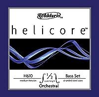 D'Addario ダダリオ ウッドベース(コントラバス)弦 Helicore Orchestral Set H610 1/2M Medium Tension 【国内正規品】