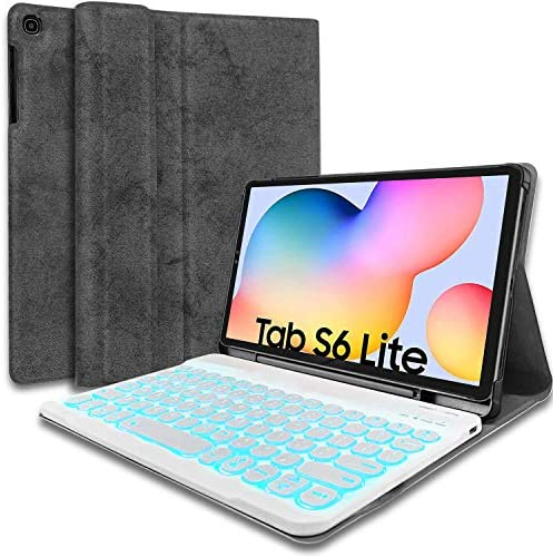 Wineecy Galaxy Tab S6 Lite 2020 Keyboard Case 10 4 Backlit SM P610 SM P615 7 Color Light Detachable product image