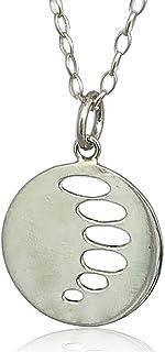 ELEMENTA Dije Coral para mujer y hombre, elaborado en PLATA ley 925 Tamaño diámetro 2.5 cm con cadena de 45 cm Pulido bril...