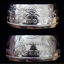 Genuine 1921 Morgan .900 Silver Dollar Handcrafted Coin Ring (Sizes 9 to 16)