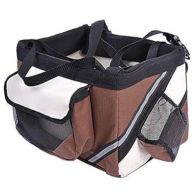 Teekland Pet Cat Dog Bike Basket Bag Travel Saf...