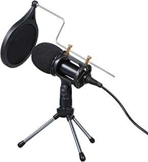 Wired Condenser Microphone for Computer Audio 3.5mm Studio Mic Video Conferencing Voice Recording Video Chatting KTV Karao...