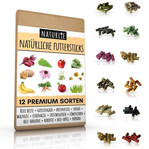 Naturlie Futterstick Set - 12x10g leckere Futter Sticks für Garnelen, Krebse, Schnecken & Welse - Premium Aquarium Garnelenfutter, Schneckenfutter, Krebsfutter