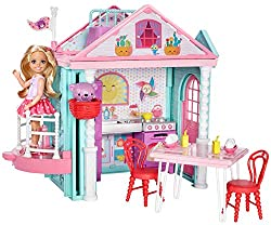 Join the club with chelsea doll's playhouse Two storeys with a kitchen and lots of play space make the house a ideal getaway for young imaginations Place chelsea doll on the platform, her bear in the basket and move the platform Other working featur...