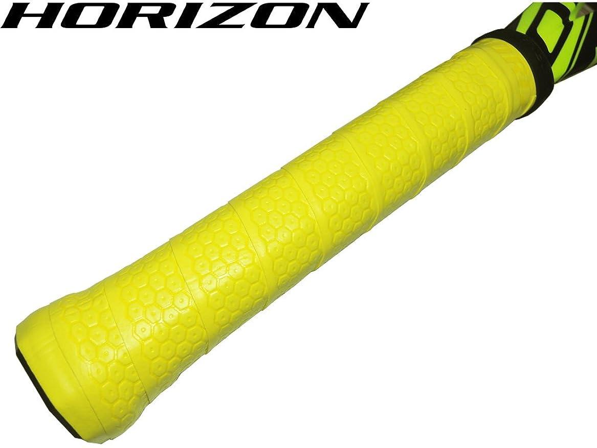包帯略語速度【HORIZONホライズン】手に吸い付く オクトパス ウェット オーバーグリップテープ イエロー 1本 硬式テニスグリップ用