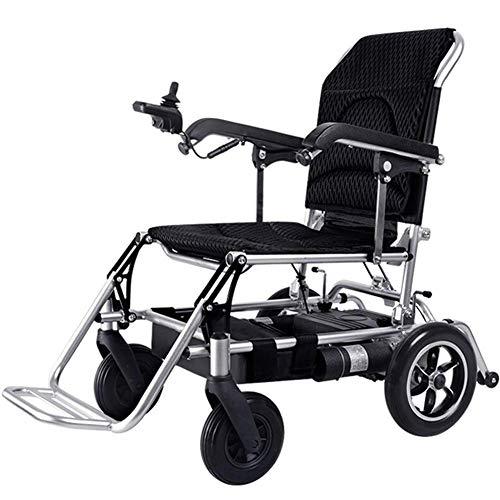 Living Decoration Klappbarer elektrischer Stuhl, leicht 21 kg, 360 & deg;Joystick Lithium Batterie Elektromobilitätsassistent Elektrorollstuhl leichter Roller tragbare ältere behinderte Hilfswagen
