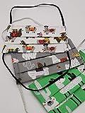 Grüne Handmade Behelfsmaske im Alpaka Design | handmade by Alzsteg-Alpakas