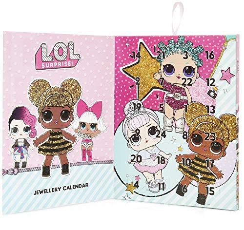 L.O.L. Surprise! Adventskalender für Mädchen mit 24 Schmuck, LOL Adventskalender 2019 Kinder 1 Halskette 1 Bettelarmband + 22 Glam Glitter Charm-Anhänger von LOL Surprise Puppen Geschenke für Mädchen