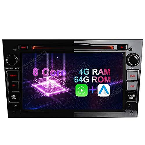 "Android 10 Octa-Core 4GB RAM+64GB ROM Carplay+Android Auto Autoradio DVD GPS Navigation 7"" Radio WiFi Bluetooth für Opel Vauxhall Astra H G Antara Vectra Corsa C D Zafira (Klavier Schwarz)"