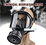 Full Mask Gas Mask, Accessories Respirator Canister,Sealing Gas Mask, Widely Used in Organic Gas, Paint spary, Chemical,...