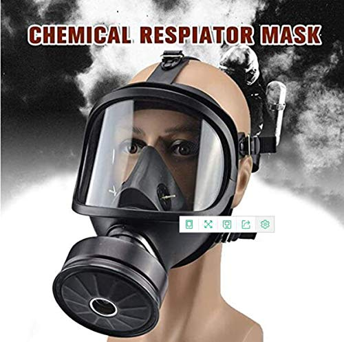 Full Mask Gas Mask, Accessories Respirator Canister,Sealing Gas Mask, Widely Used in Organic Gas, Paint spary, Chemical, Woodworking, Dust Protectio