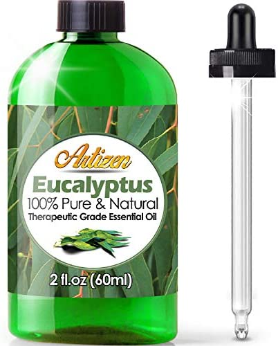 Artizen Eucalyptus Essential Oil 100 Pure Natural Undiluted Therapeutic Grade Huge 2oz Bottle product image