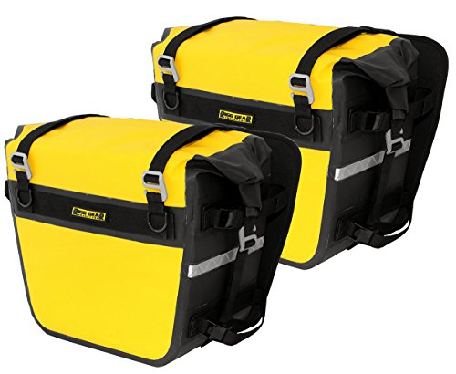 Nelson-Rigg SE-3050-YEL Sierra Dry Saddlebags 100% Waterproof Mount to most Adventure and Dual Sport Motorcycle Racks, Yellow