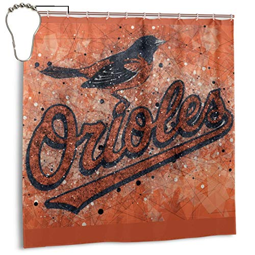 Fremont Die Baltimore-Oriole&s Bath Shower Curtains with Hooks Bathroom Decor Waterproof Polyester Fabric Machine Washable Cloth Fabric