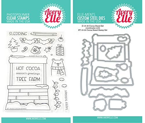 Avery Elle - Cocoa Stand - Clear Stamps and Dies Set