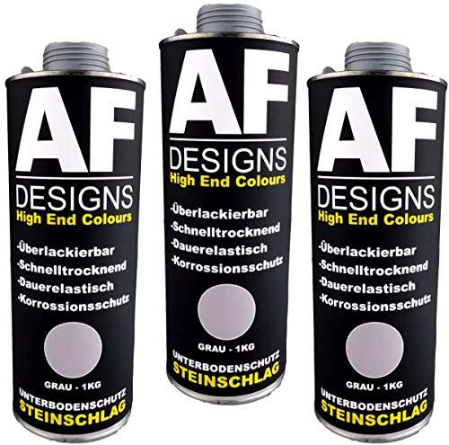 Alex Flittner Designs Unterbodenschutz grau 3x1kg überlackierbar Steinschlagschutz