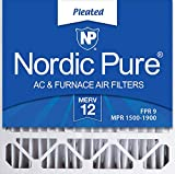 Nordic Pure 20x20x5 MERV 12 Honeywell/Lennox Replacement AC Furnace Air Filters 2 Pack