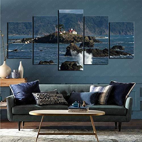 Faro Hecho por El Hombre Enmarcado Imprime Imágenes para 5 Paneles Decoración Moderna del Hogar Habitación Decoración del Hogar
