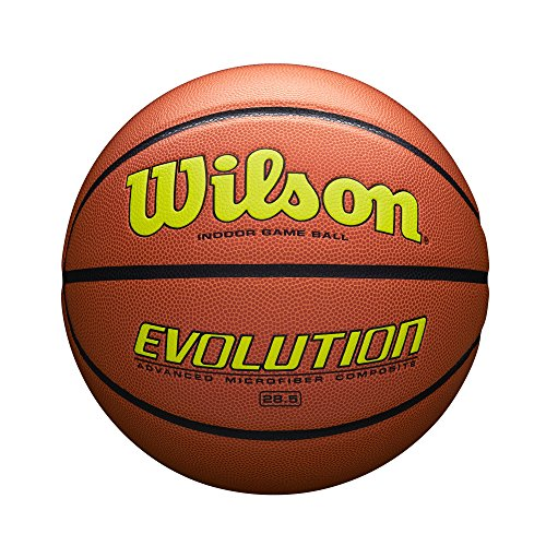Wilson Sporting Goods Intermediate, Size 28.5, Yellow Wilson Evolution Indoor Game Basketball