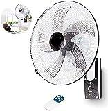 Duwen Ventilador de pared para el hogar, ventilador de pared, control remoto Fan de la pared de la cabeza de sacudida industrial, adecuado para un gran ventilador en el restaurante Dormitorio familiar