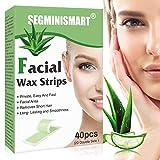Bandas De Cera Faciales, Cera de eliminación de vello facial para mujeres, Face Cold Wax Strips Facial Strip Cera Depilación Tiras de cera para mentón, cejas y labio superior, rayita