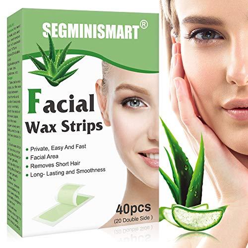 Wachsstreifen Haarentfernung, Haarentfernung für das Gesicht, Wachsstreifen Haarentfernung Set, Lippen & Augenbrauen Kaltwachs Enthaarung Streifen fürs Gesicht, glatte Haut, alle Hauttypen