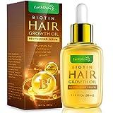 Hair Growth Serum - Biotin Hair Regrowth Oil Prevent Hair Loss and Natural Serum for Thicker, Stronger, Longer Hair Men and Women 1.18 Oz