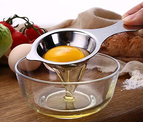 ADH Brands - Stainless Steel, Egg Divider, Egg Separator, Yolk & Egg White Filter - Easy Use & Easy Clean