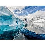 5DDiamondPainting Lago glaciar 5D Kit de pintura de diamante,Bordado de punto de cruz de diamantes de imitación Artesanía30x40 cm(Sin marco)