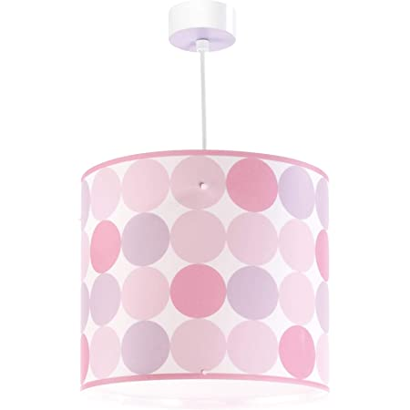 Dalber Lampe de Plafond - Suspension Ronde - Rose