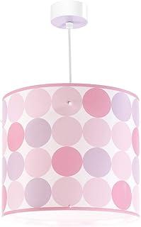 Dalber Lámpara Infantil de Techo Colgante Puntos Colores Colors, rosa