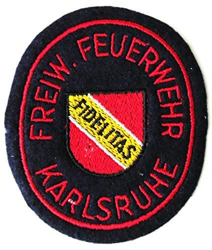 Freiwillige Feuerwehr - Karlsruhe - Fidelitas - Ärmelabzeichen - Abzeichen - Aufnäher - Patch - Motiv 1