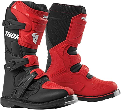 Thor Blitz XP Jugend Motocross Stiefel Rot/Schwarz 2
